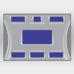 Adesivo Central do Painel para Esteira PH3500